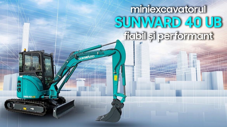 Miniexcavatorul Sunward SWE 40UB