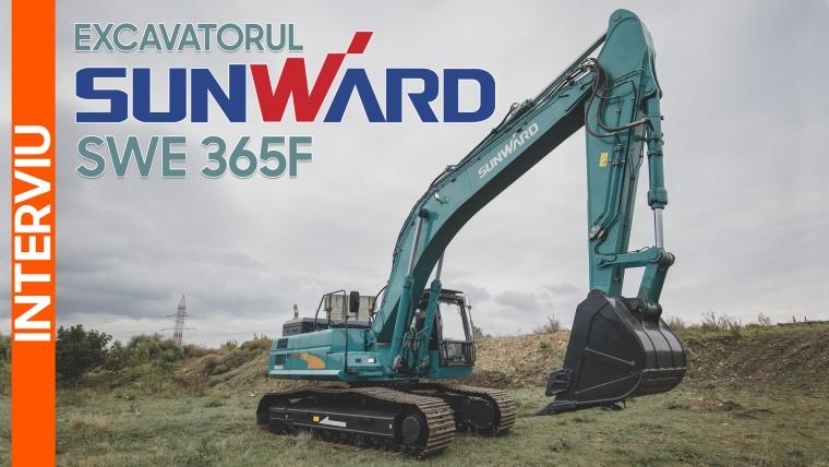 Excavatorul Sunward SWE 365F, un utilaj fiabil și robust